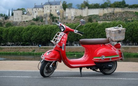 Weekend scooter ride in the Loire valley