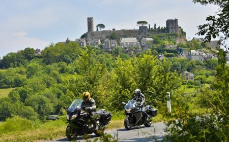 Limousin motorcycle tour