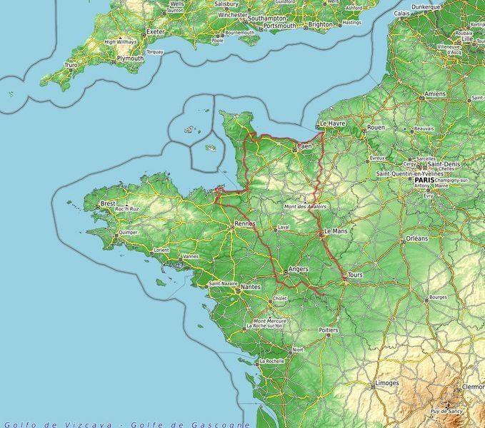 map d-day tour