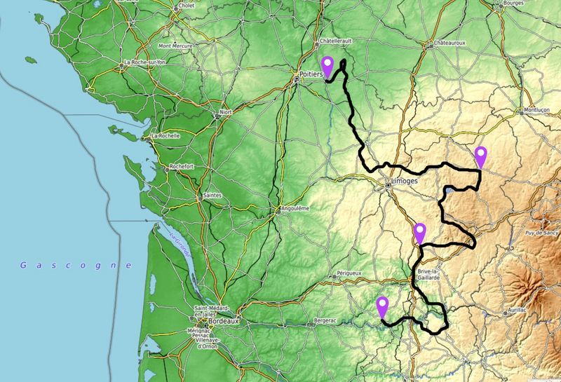 map limousin