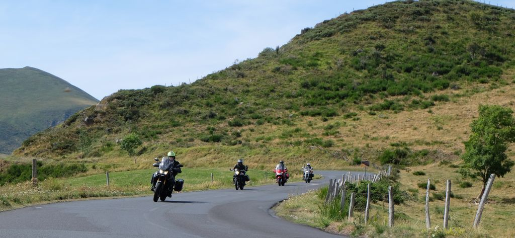 Auvergne on a motorcycle