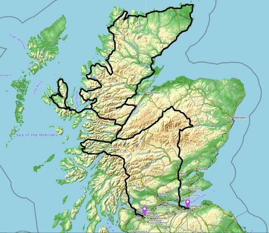 motorcycle tour map of scotland