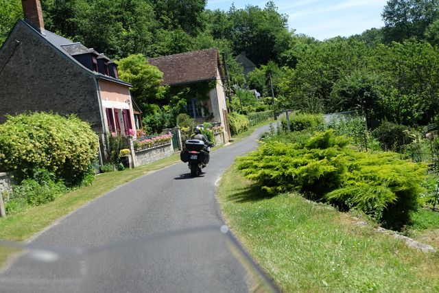 riding loire valley on a motorcycle