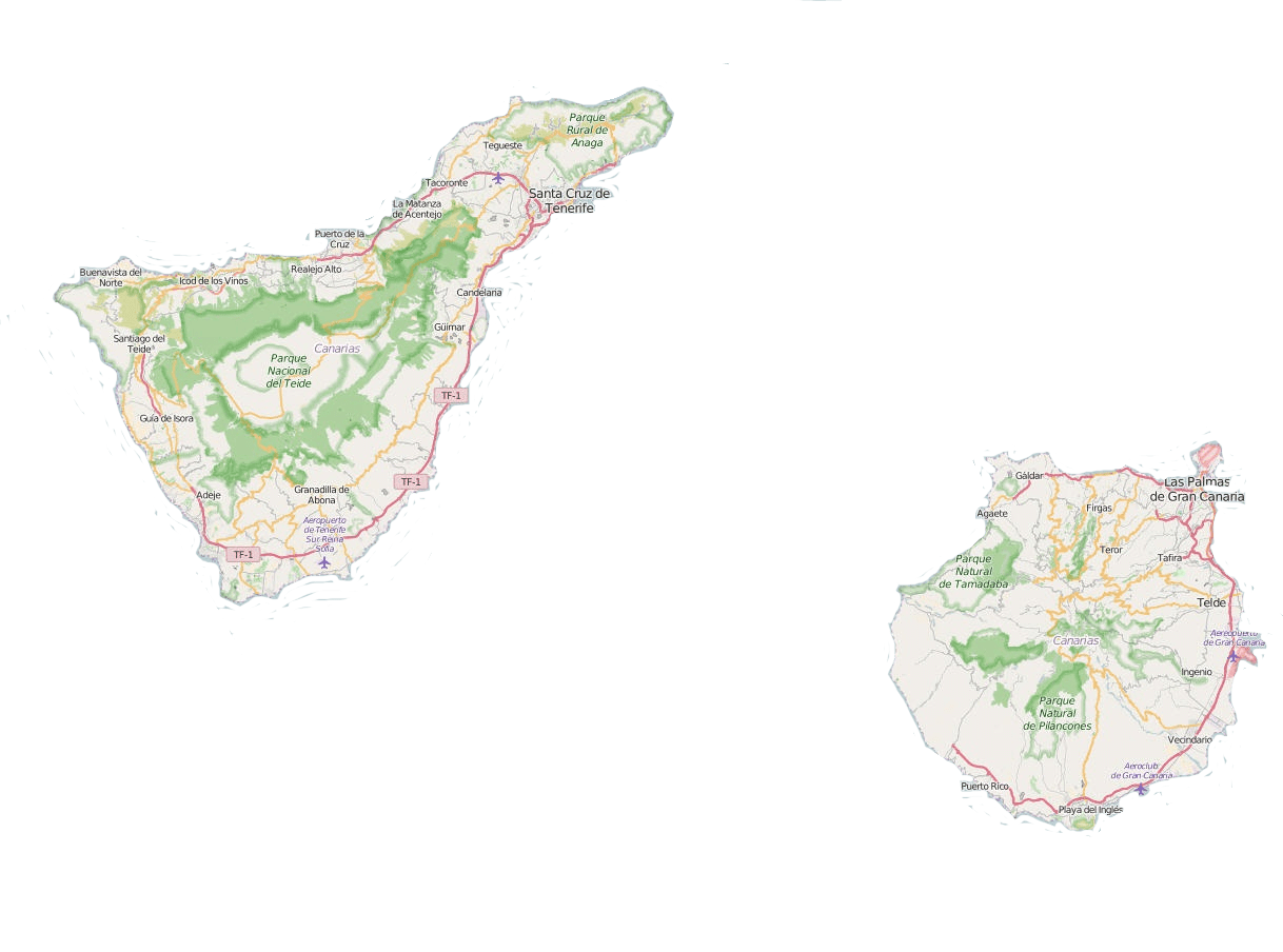 canaries map