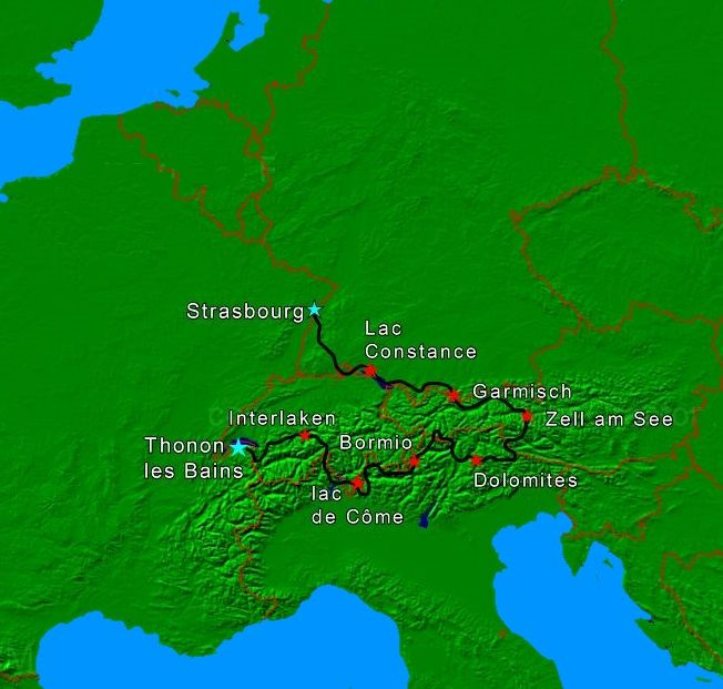 map grandes alpes
