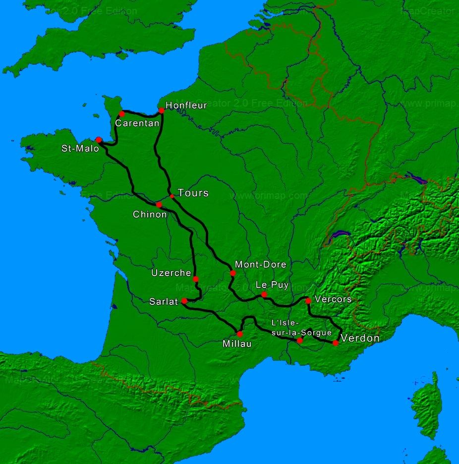 map tour de france motorcycle tour