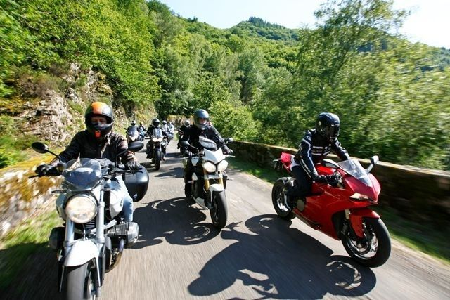 touring France on motorcycle